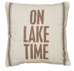 Lake Time Pillow - Primitives by Kathy