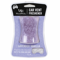 Lavender Vanilla WoodWick Car Vent Freshener | Discontinued & Seasonal WoodWick Items!