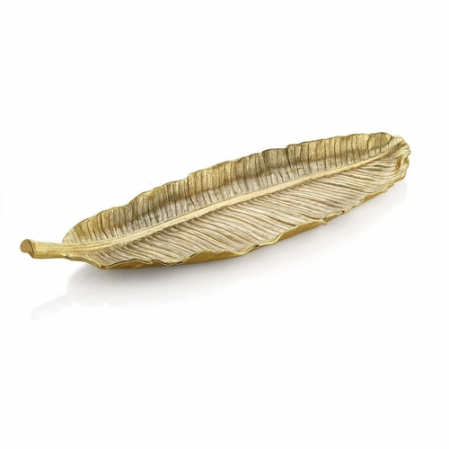 New Leaves Banana Leaf Large Platter - Gold by Michael Aram
