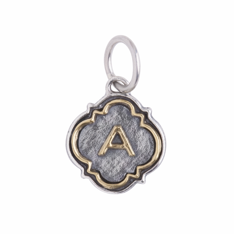 letter quotaquot quatrefoil insignia charms by waxing poetic With waxing poetic letter charms