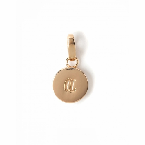 "Letter ""A"" Round Crystal Charm - Style Spartina 449"
