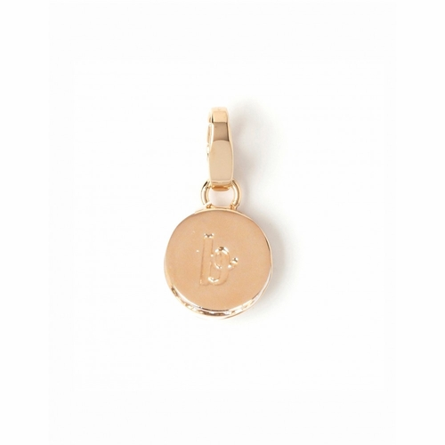 "Letter ""B"" Round Crystal Charm - Style Spartina 449"