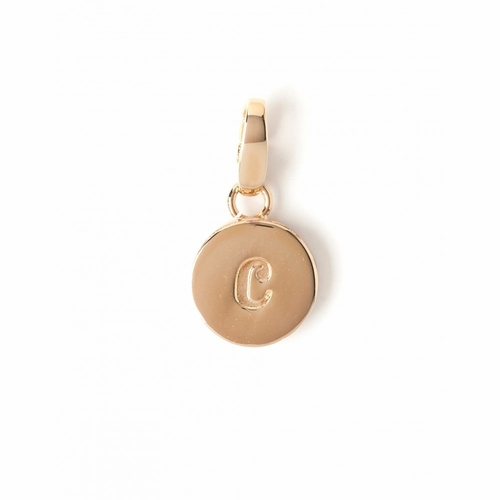 """Letter """"C"""" Round Crystal Charm - Style Spartina 449"""