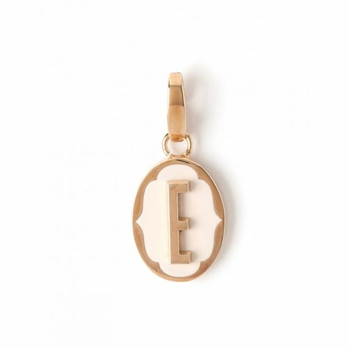 "Letter ""E"" Oval Cartouche Charm - Style Spartina 449"