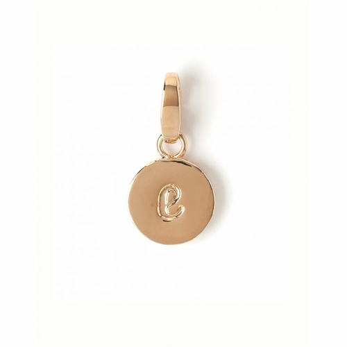 """Letter """"E"""" Round Crystal Charm - Style Spartina 449"""