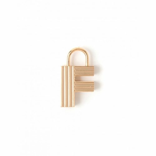"""Letter """"F"""" Padlock Charm - Style Spartina 449"""