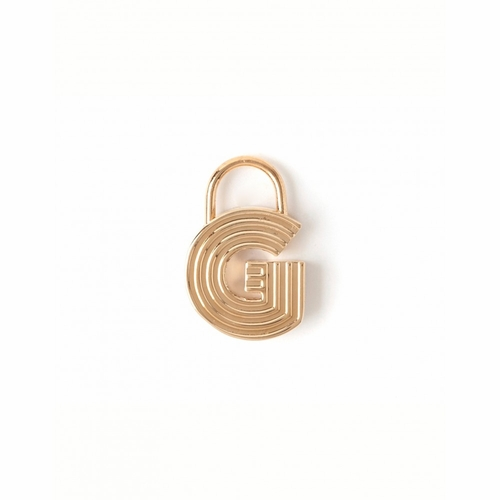 """Letter """"G"""" Padlock Charm - Style Spartina 449"""