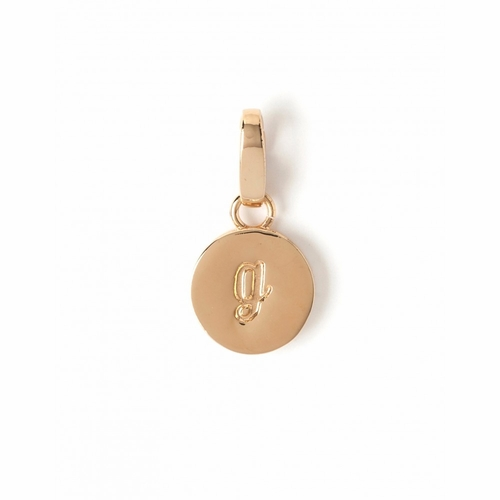 """Letter """"G"""" Round Crystal Charm - Style Spartina 449"""