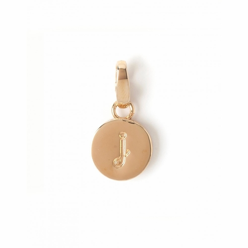 """Letter """"J"""" Round Crystal Charm - Style Spartina 449"""
