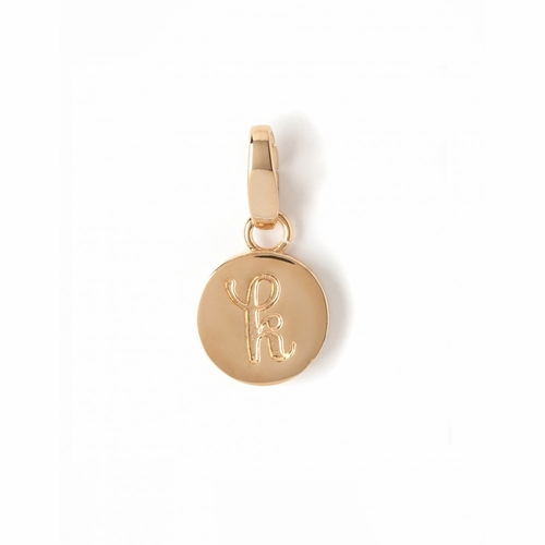 """Letter """"K"""" Round Crystal Charm - Style Spartina 449"""
