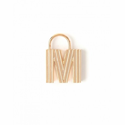 "Letter ""M"" Padlock Charm - Style Spartina 449"