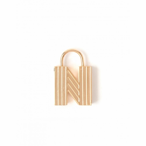 "Letter ""N"" Padlock Charm - Style Spartina 449"
