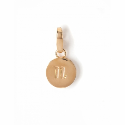 "Letter ""N"" Round Crystal Charm - Style Spartina 449"