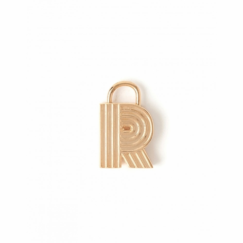"Letter ""R"" Padlock Charm - Style Spartina 449"