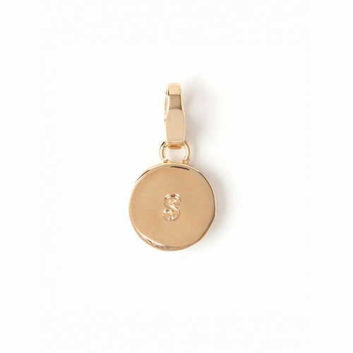 """Letter """"S"""" Round Crystal Charm - Style Spartina 449"""
