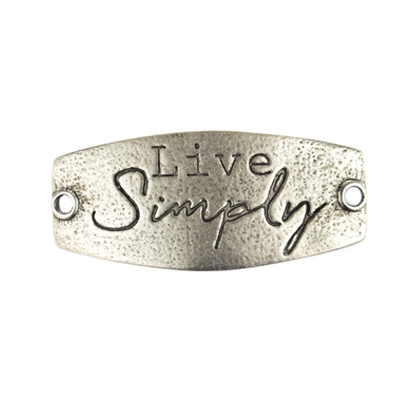 Live Simply - Small Silver Sentiment - Lenny & Eva
