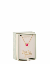 "Love Hoo Oh So Witty 18"" Necklace Box by Spartina 449"