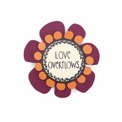 Love Overflows Flower Magnet - Embellish Your Story