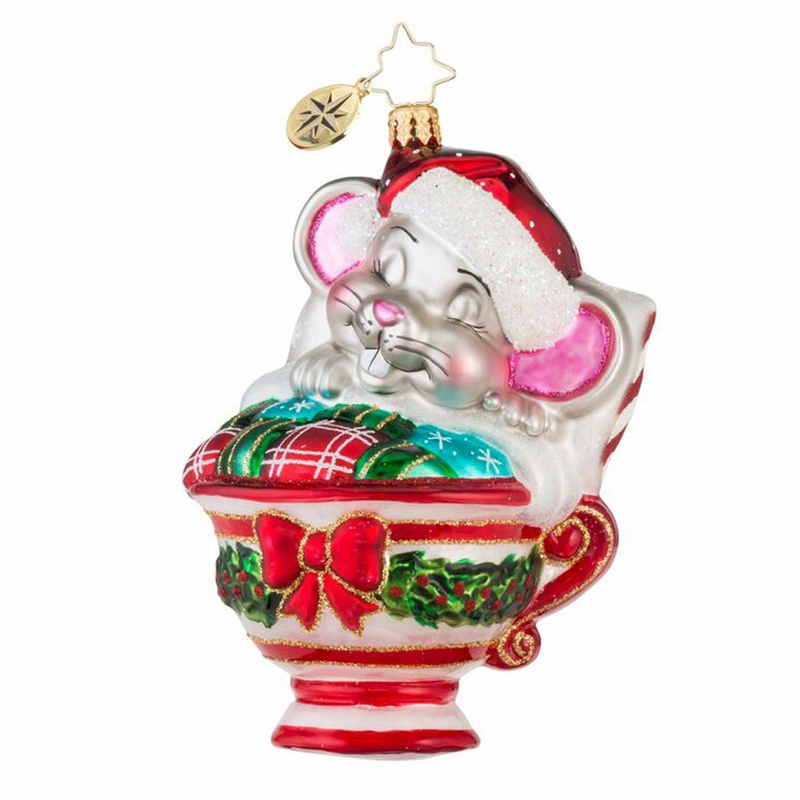 Christopher Radko Ornaments: Maxwell Mouse Ornament By Christopher Radko