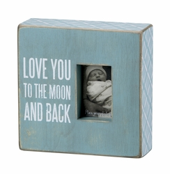 Moon and Back Blue Box Frame - Primitives by Kathy