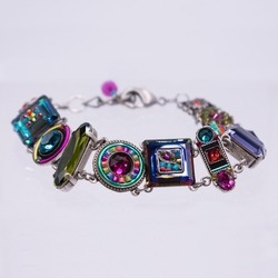 Multi-Color La Dolce Vita Crystal Bracelet - Firefly Jewelry