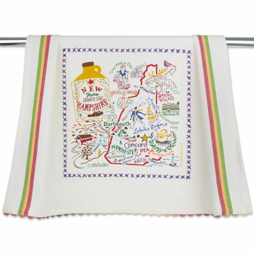 new hampshire dish towel by catstudio