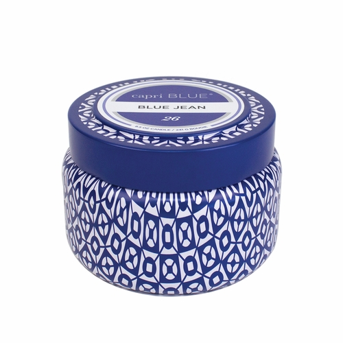 No. 26 Blue Jean Printed Travel Tin by Capri Blue