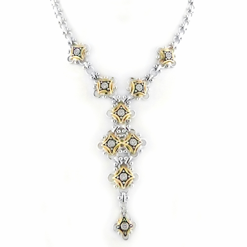 O Link Five Drop CZ Necklace - John Medeiros
