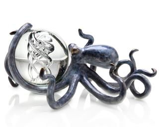 "Octopus with Treasure (3.5""D Glass Ball Included) - SPI Home (Special Order)"