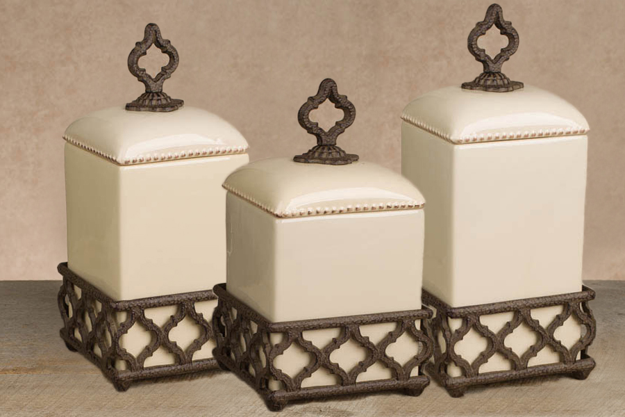 Ogee G Cream Canister Set Gg Collection