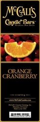 Orange Cranberry McCall's Candle Bar | Candle Bars by McCall's