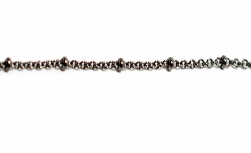 """Oxidized Sterling Silver Station Chain - 16"""" by Beaucoup Designs"""
