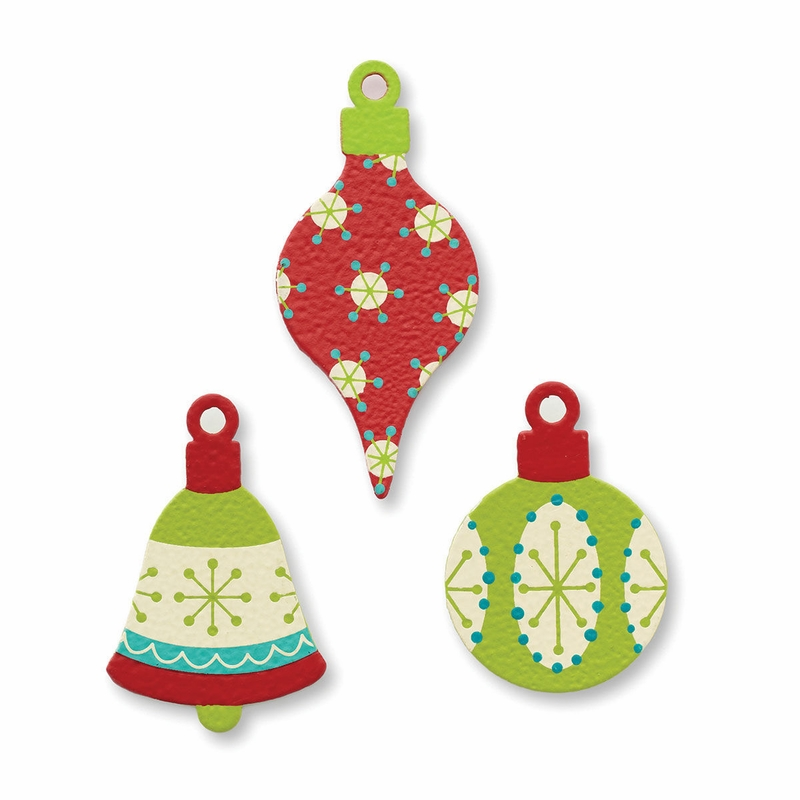 Painted christmas ornament magnets set of embellish