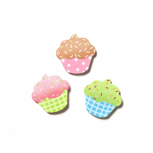 Party Cupcake Magnets - Set of 3