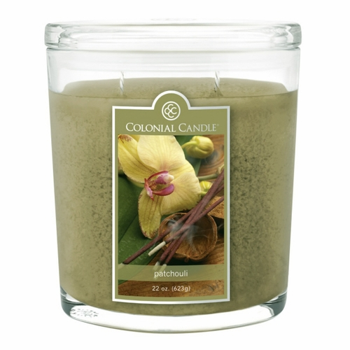 Patchouli 22 oz. Oval Jar Colonial Candle