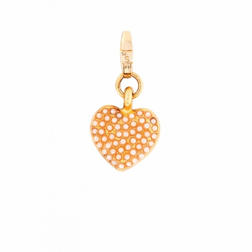 Pearl Heart Charm - Style Spartina 449