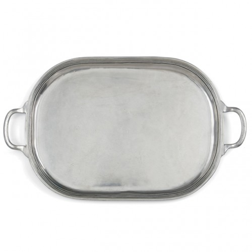Peltro Large Oval Tray - Arte Italica (Special Order Item - Pleas