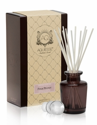 Pink Peony Reed Diffuser Set by Aquiesse | Reed Diffuser Sets by Aquiesse
