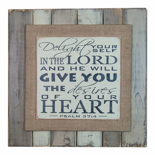 Psalm 37:4 Wooden Hues Sign by Pine Designs