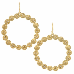 Remy Pod Earrings - Gold White - Melinda Maria