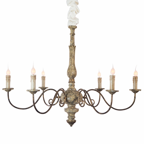Rustic Gold Avignon Chandelier by Aidan Gray