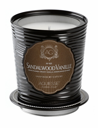 Sandalwood Vanille Portfolio Tin Candle with Matchbook by Aquiesse