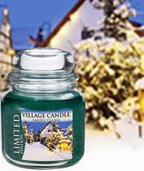 Santa's Village 16 oz. Premium Round by Village Candles | Village Candles Closeouts