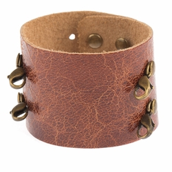 Scotch Wide Cuff - Brass Finish  - Lenny & Eva