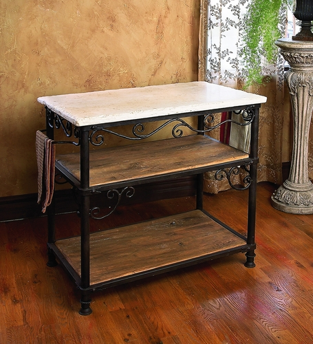 Siena Rectangle Kitchen Island by Bella Toscana