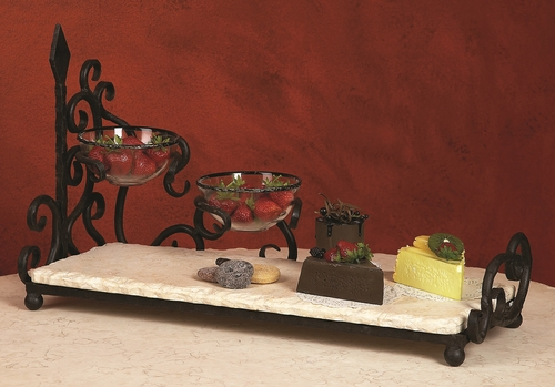 Siena Two-Bowl Server With Bowls by Bella Toscana