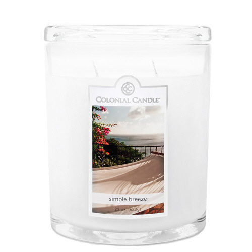 Simple Breeze 22 oz. Oval Jar Colonial Candle