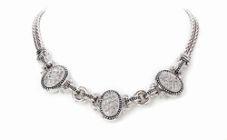 "Sparkling Seas 16"" Pave 3 Station Necklace - John Medeiros"