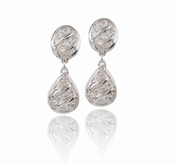 Sparkling Seas Pave Drop Earrings - John Medeiros