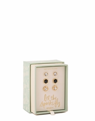 Sparks Fly Oh So Witty Earring Box Set by Spartina 449